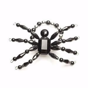 Jewelry - Huge Black Silver Bead Spider Stretchy Bracelet